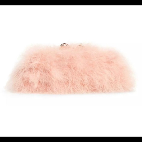 Ted Baker London Handbags - Ted Baker pink feather clutch purse NWT